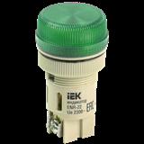 Лампа ENR-22 сигн.d22мм зелён неон/240В цилин ИЭК