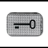 Линза прозрачная с символом КЛЮЧ 1714-0-0237 ABB