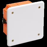 Коробка КМ41022 распаячная 92х92x45мм для полых стен (с саморезами,пластиковые лапки, с крышкой) ИЭК