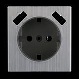 Накладка для USB розетки (глянцевый никель)/WL02-USB-CP/ a037019