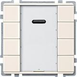 SE Merten KNX SD Беж Сенсор 4-кнопочный с ИК-приемником Plus