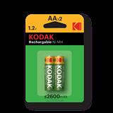 Аккумуляторная батарея AА Kodak HR6-2BL 2600mAh (KAAHR-2/2600mAh) (2 штуки в упаковке)