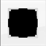 Рамка на 1 пост  (белый,стекло) / WL01-Frame-01_Favorit/  a030819