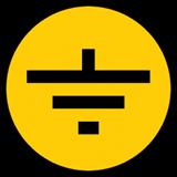 Самоклеящаяся этикетка: 30х30 мм, символ 'Заземление' ИЭК