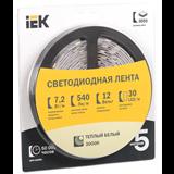 Лента LED 5м блистер LSR-5050WW30-7,2-IP20-12V теплый белый цвет LSR2-1-030-20-1-05 IEK