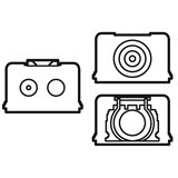 Valena Белый Аксессуар для подсоединения кабелей и труб для накладной коробки 776184 Legrand