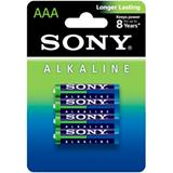 Элемент питания AAA алкалин. LR03 (мизин.) SONY Blue Alkaline BL-4 (блистер 4 шт)