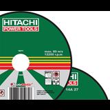 Диск шлифовальный Hitachi-Луга по металлу 180  Х 6 Х 22, 27 (14А)