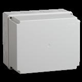 Коробка КМ41273 распаячная для о/п 240х195х165 мм IP44 RAL7035, кабельные вводы 5 шт UKO10-240-195-165-K41-44 IEK