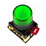 Лампа AL-22TE сигн.d22мм зелён неон/240В цилин BLS30-ALTE-K06 IEK