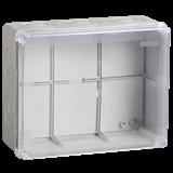 Коробка КМ41276 распаячная для о/п 240х195х90 мм IP55 RAL7035, прозр. кр., кабельные вводы 5 шт UKO10-240-195-090-K51-55 IEK