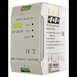 Блок питания ZI-120-24 импульсный, мощность 120Вт, Uвых. 24В DC,  130*75*90,  DIN 90-264 В AC