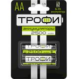 Аккумуляторная батарея AA Трофи HR6-2BL 2500 mAh (2 штуки в упаковке)