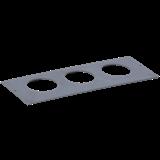 Приборная рамка ONFLOOR 80/3 для 3-х ЭУИ 60x60 KNR-80-03-7012