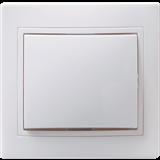 Выключатель 1-клавишный Кварта 10А 250В IP20 белый