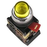 Кнопка ABLFP-22 желтый d22мм неон/240В 1з+1р