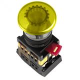 Кнопка AELA22 Грибок d22мм неон 240В1з+1р желтая