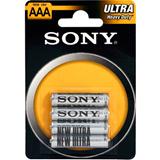 Элемент питания AAA солевая R03 (мизин.) SONY New Ultra BL-4 (блистер 4шт)