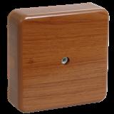Коробка КМ41216-05 распаячная для о/п 79x79x29 мм дуб (6 клемм 6мм2)