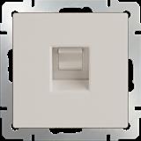 Розетка Ethernet RJ-45  (слоновая кость) / WL03-RJ-45-ivory/  a028896