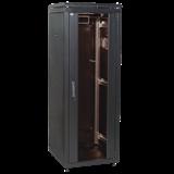 ITK Шкаф сетевой 19' LINEA N 33U 600х1000 мм стеклянная передняя дверь, задняя перфорированная черны LN05-33U61-GP IEK