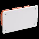 Коробка КМ41006 распаячная для тв.стен 172x96x45мм (с саморезами, с крышкой) ИЭК