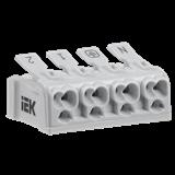 Клемма пружинная соединительная КСП4-2L+N+PE IEK. 80px x 80px