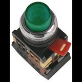 Кнопка ABLFP-22 зеленый d22мм неон/240В 1з+1р