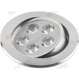 Светильник светодиодный LED TITAN 05 1 07 4000K 5Вт алюминий глянцевый круглый (d92 для монтажа) IP20. 80px x 80px