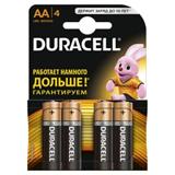 Элемент питания AA алкалин Duracell LR6-4BL BASIC (4шт в упаковке)
