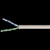ITK Каб. в. п. U/UTP кат. 5E 2х2х24AWG solid PVC серый