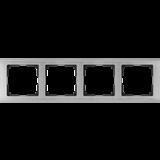 Рамка на 4 поста (глянцевый никель) / WL02-Frame-04_Metallic/  a028862