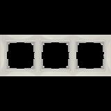 Рамка на 3 поста (слоновая кость, basic) / WL03-Frame-03_Snabb /a036632