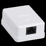 Настенная информационная розетка RJ45 кат. 6 UTP 1-порт белый CS2-1C06U-12