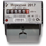 Счетчик электроэнергии, однофазный   Меркурий 201.7 5-60А/220В DIN