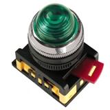 Лампа AL-22 сигн.d22мм зелён неон/240В цилиндр