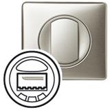 Лицевая панель для датчика движения с кнопкой титан Celiane 068335. 80px x 80px