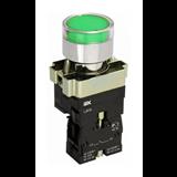 Кнопка управления LAY5-BW3361 с подсветкой зеленый 1з BBT50-BW-K06 IEK