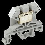 Клемма ЗНИ-4мм2 (JXB35А) серый ИЭК YZN10-004-K03