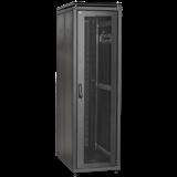 ITK Шкаф сетевой 19' LINEA N 47U 600х1000 мм с L-профилями перфорированные двери черный LN05-47U61-PP-L IEK
