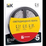 Лента LED 5м блистер LSR-5050R30-7,2-IP20-12V красный цвет