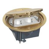 Legrand Напольная коробка круглая IP 66 c откидной крышкой 4 модуля латунь