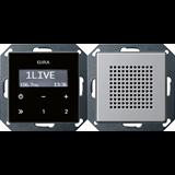 E22 Алюминий Радио скрытого монтажа 2280203 GIRA