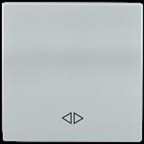 Накладка 1-клавишная BOLERO перекрест., серебро