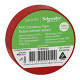 Изолента ПВХ 19мм х20м красная Schneider 2420100 Schneider Electric