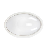 Светильник LED ДПО 3040Д 12Вт 4500K IP54 овал белый пластик с ДД IP54