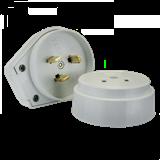 Разъем РШ-ВШ 32А 250В 2P+PEпластиковый белый EKF Simple AS-250-O-01 ЭКФ