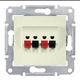 Аудиорозетка двойная Sedna IP20 бежевая SDN5400147 Schneider Electric
