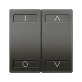 SE Unica KNX Графит Сенсор 4-кнопочный с индикатором LED