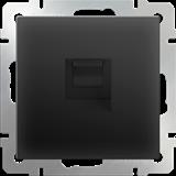 Розетка Ethernet RJ-45  /WL08-RJ-45 (черный матовый)/  a029859